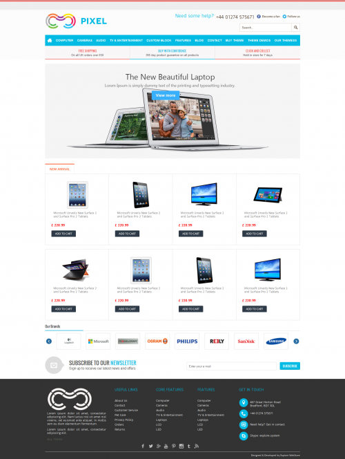 pixel-home-page