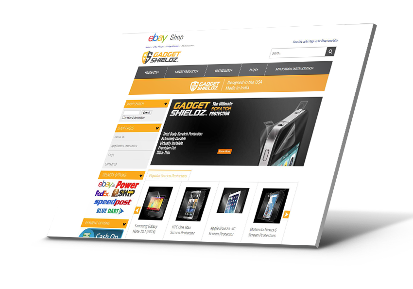 eBay Shop Design | Sixty4 eBay Shop Design